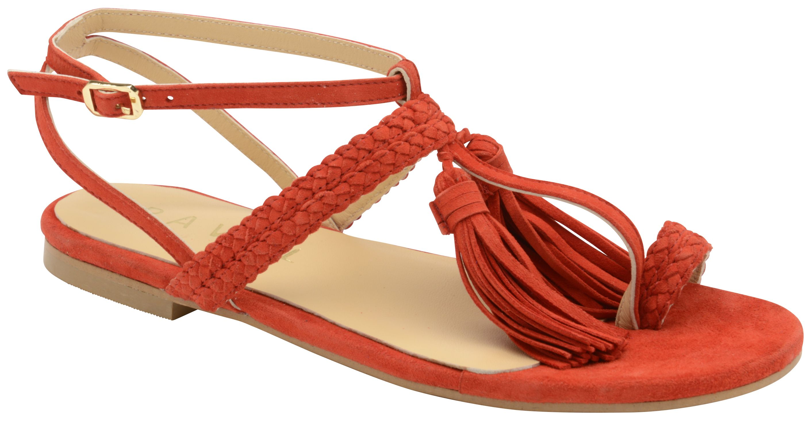 Ravel Alberta Strappy Sandals, Red