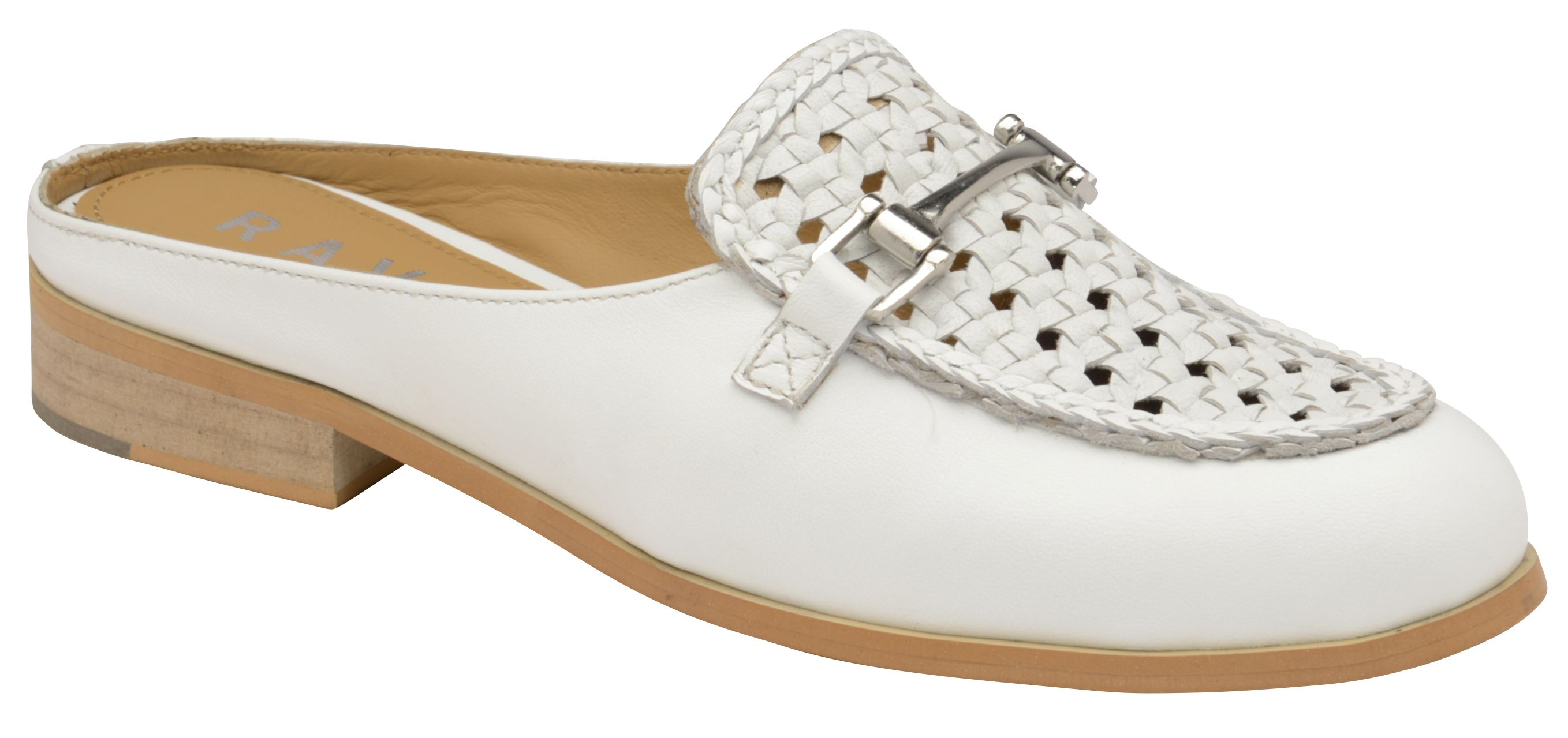 Ravel Axis Backless Loafers, White