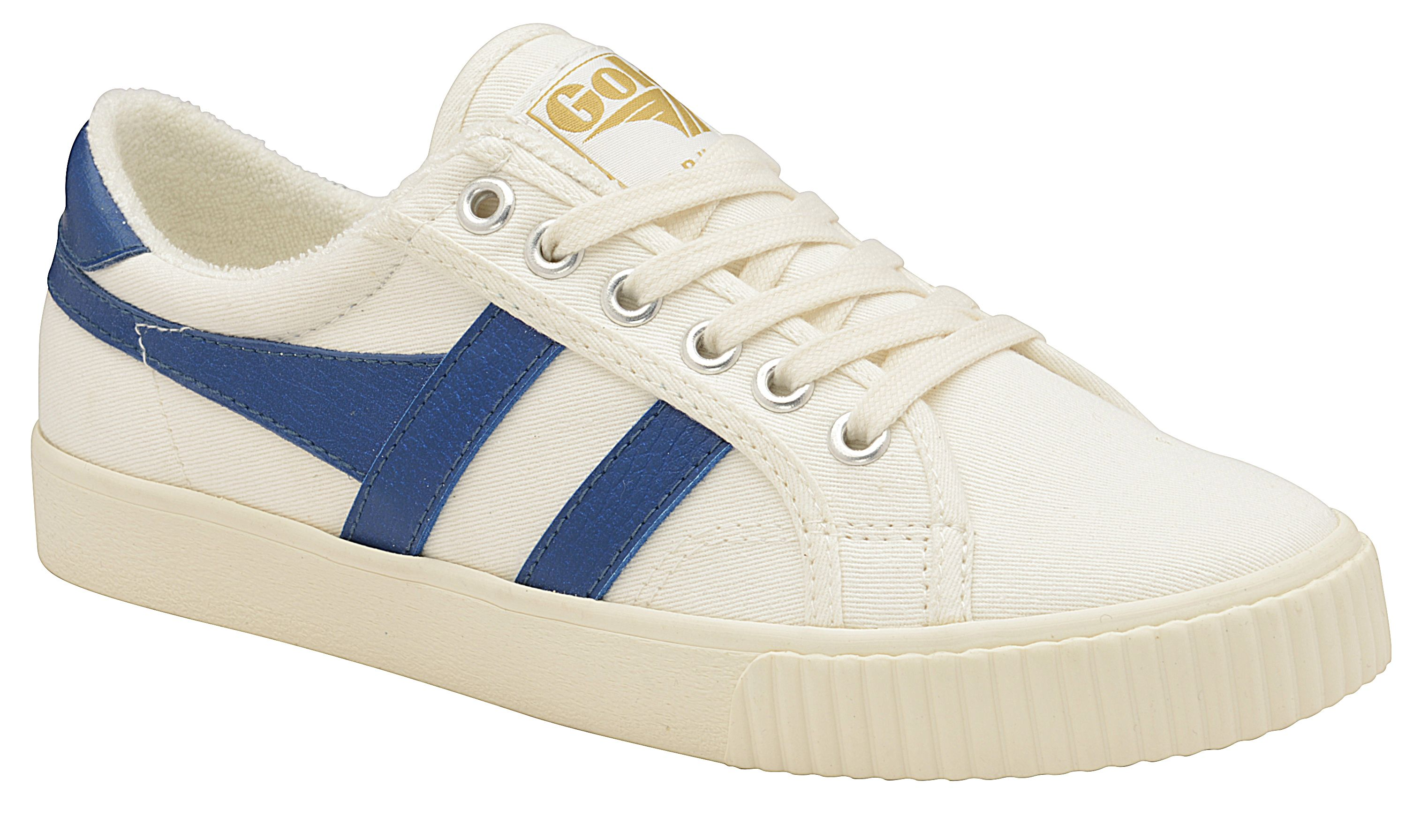 Gola Tennis Mark Cox Lace Up Trainers, Off White