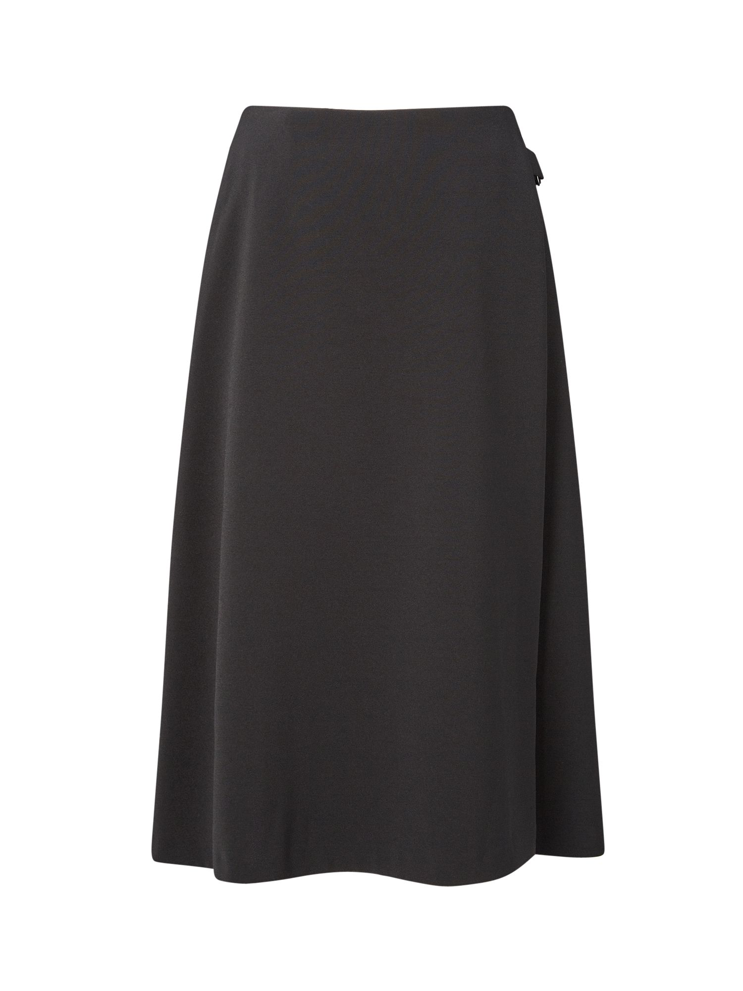Eastex Wrap Flared Skirt, Black