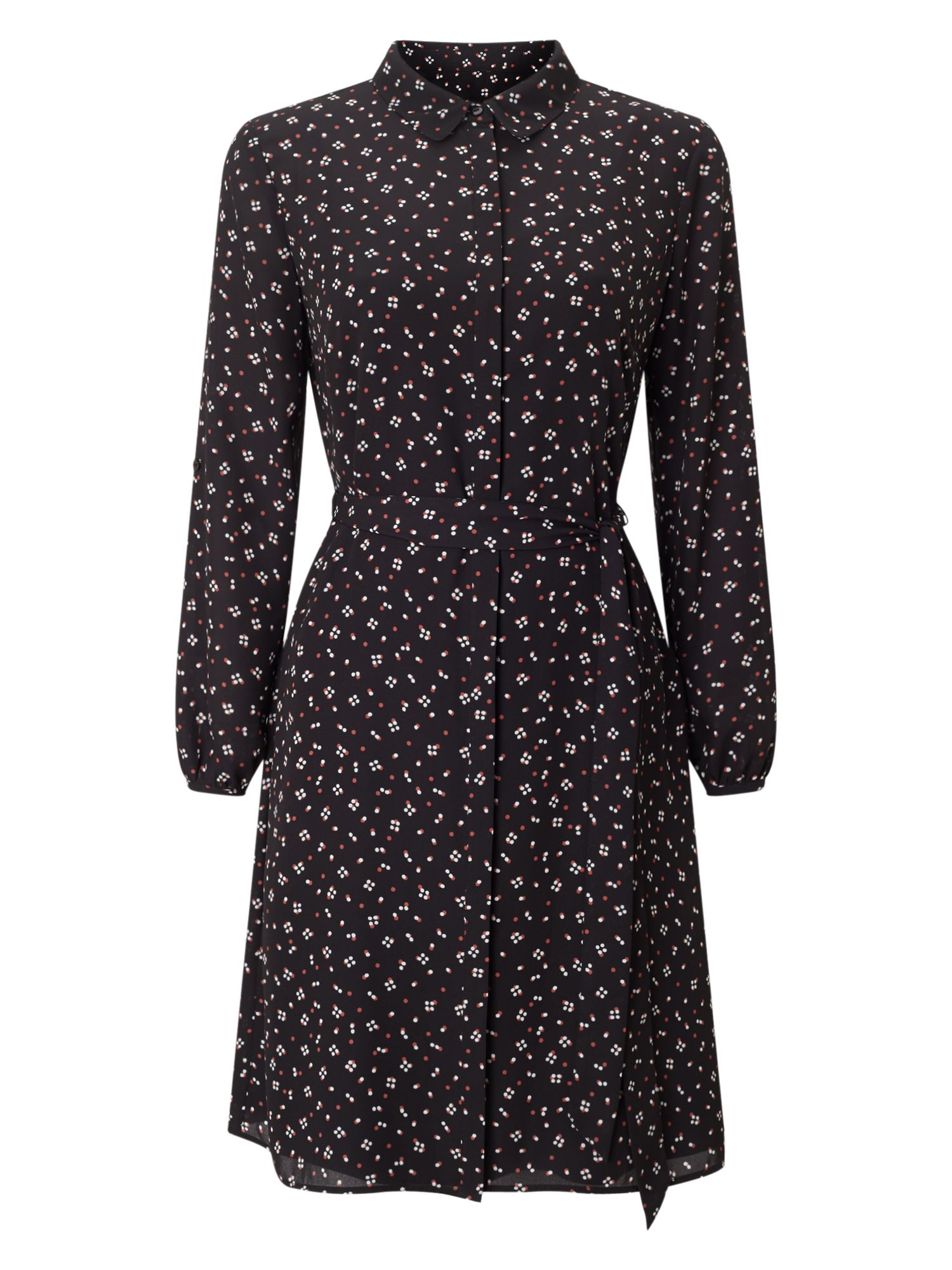 Precis Petite Petite Multi Spot Print Dress, Black Multi