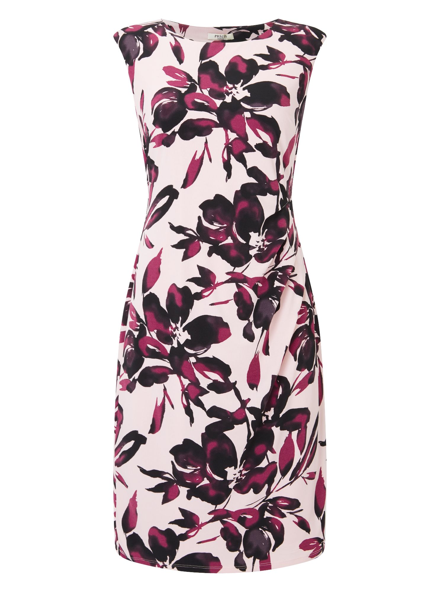 Precis Petite Petite Shadow Floral Dress, Black Multi
