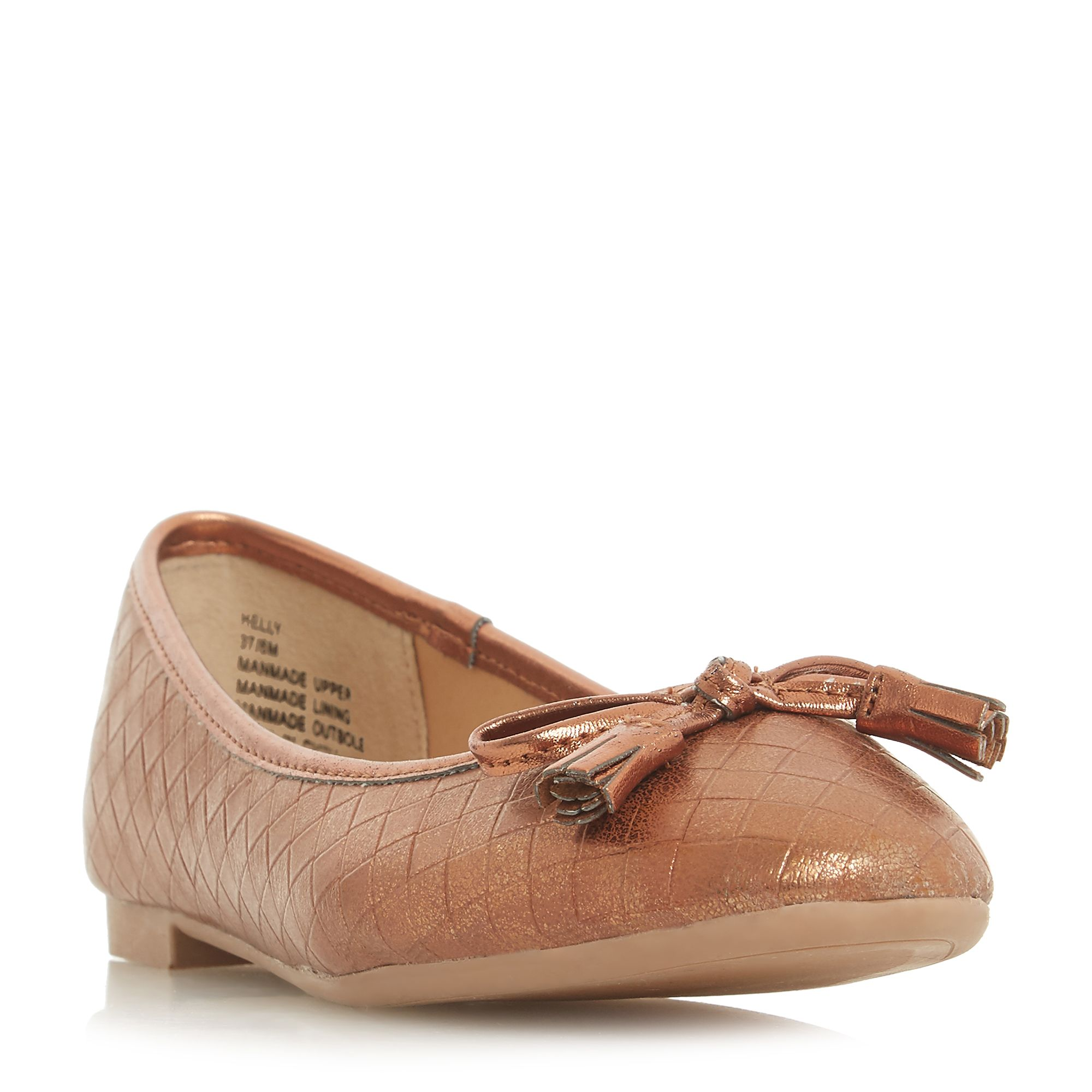 Head Over Heels Helly Woven Ballet Pump Shoes, Tan