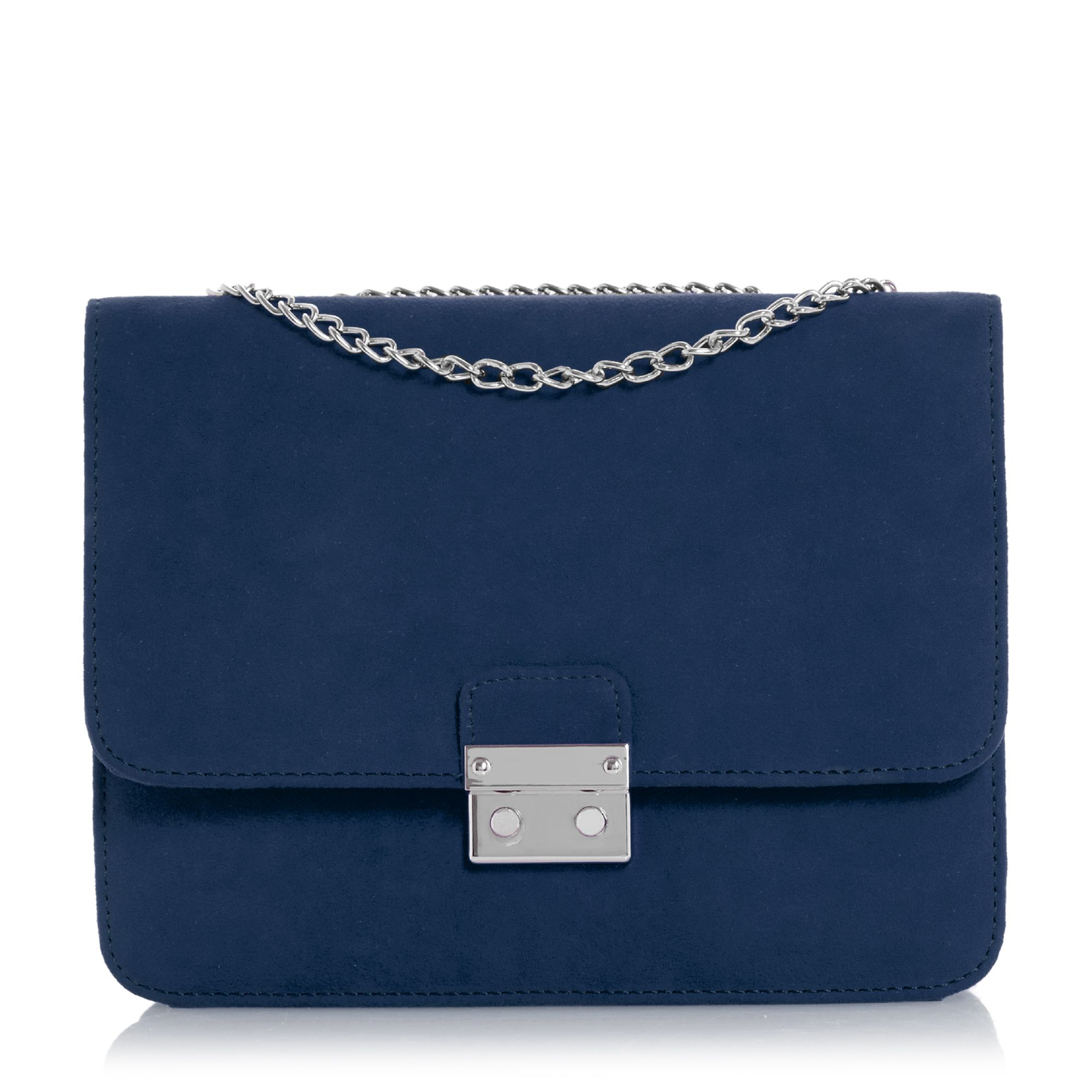 Head Over Heels Bess Square Lock Chain Strap Bag, Blue