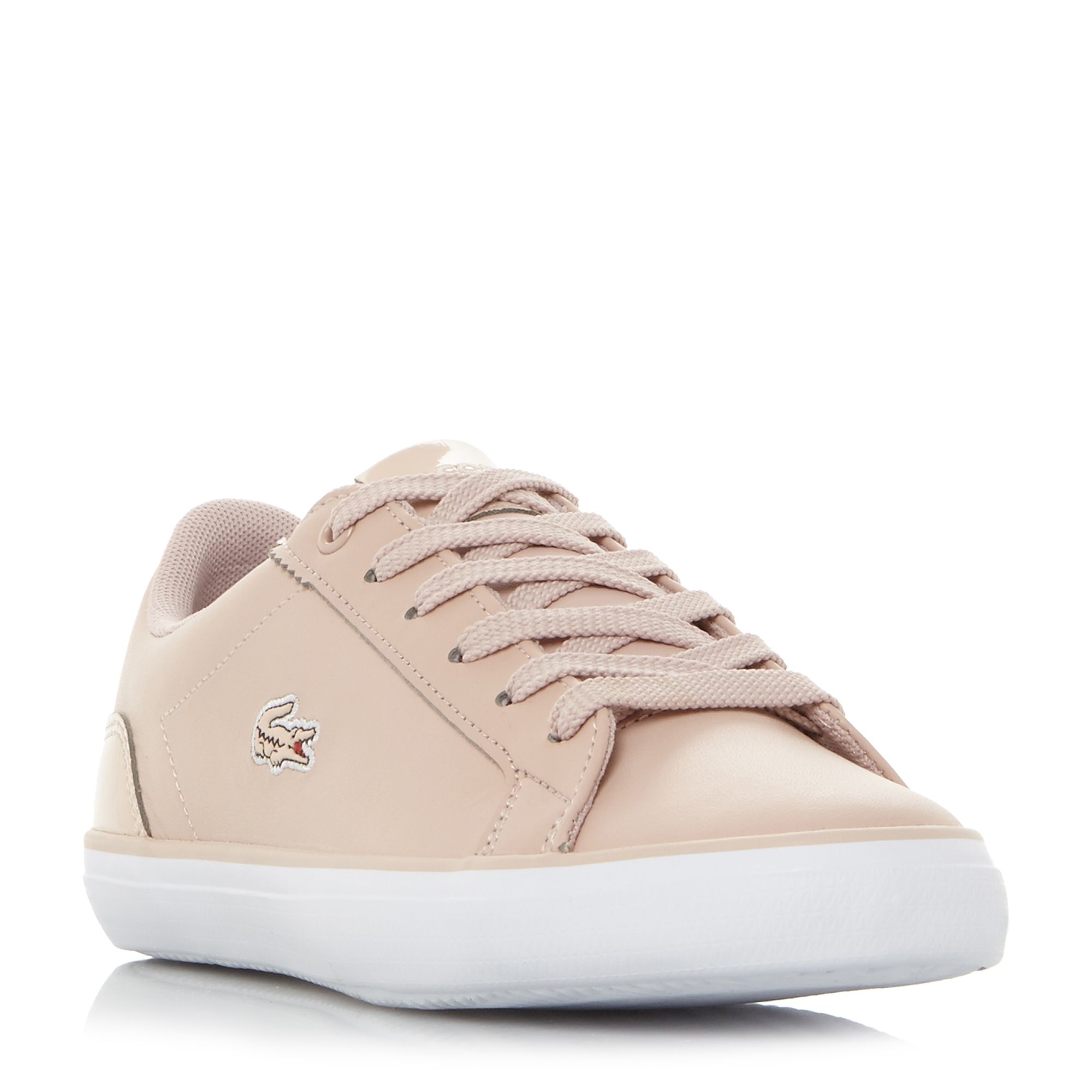 Lacoste Lerond Vulcanised Lace Up Trainers, Pink
