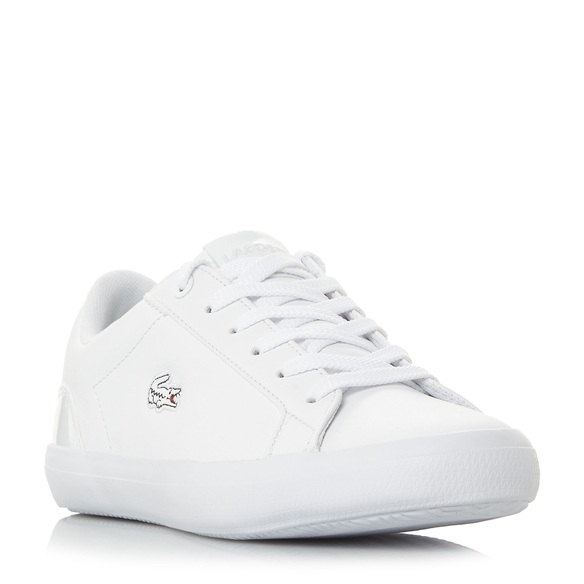 Lacoste Lerond Vulcanised Lace Up Trainers, White