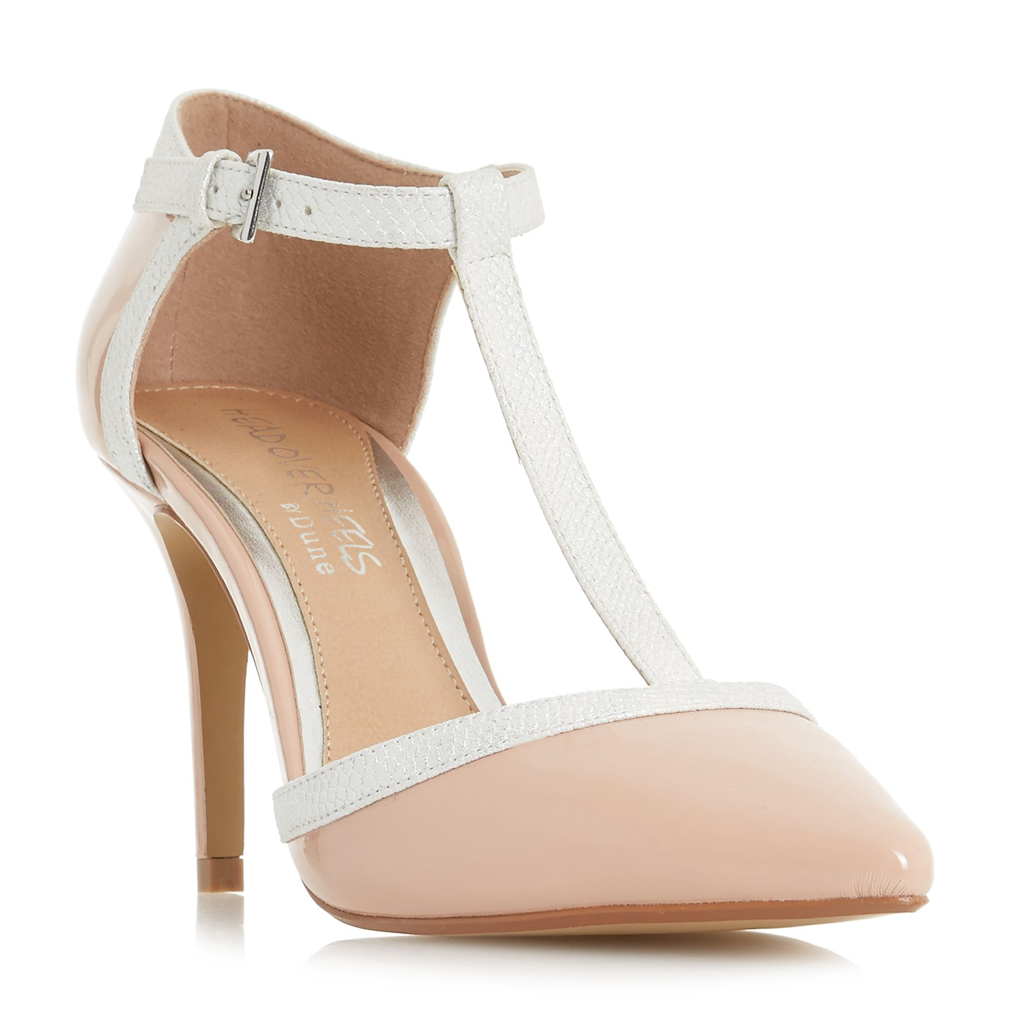 Head Over Heels Carlina Point Toe T-Bar Court Shoes, Dusty Pink