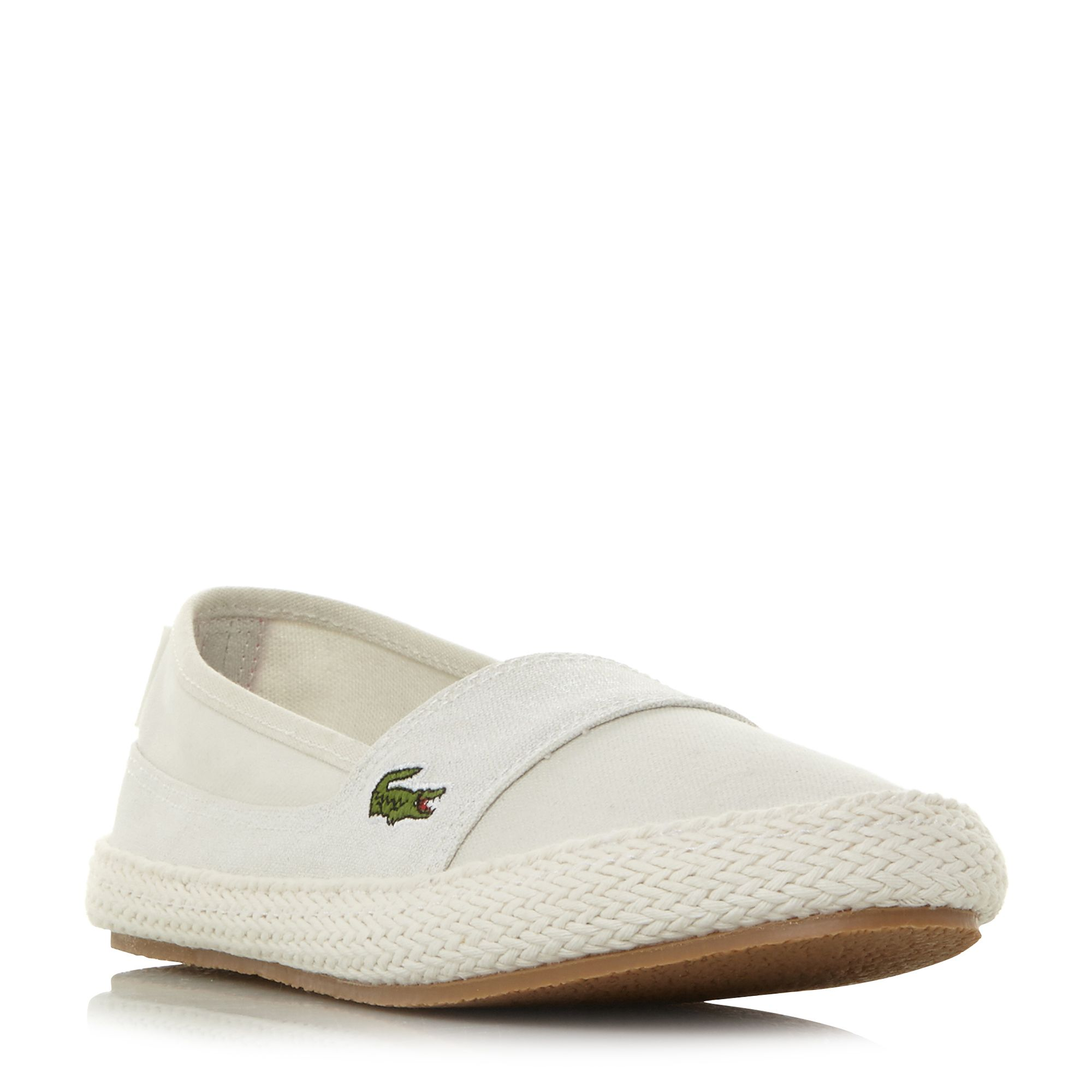 Lacoste Marice Slip On Espadrille Shoes, Off White