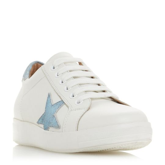 Dune Edris Star Appliqué Lace Up Trainers