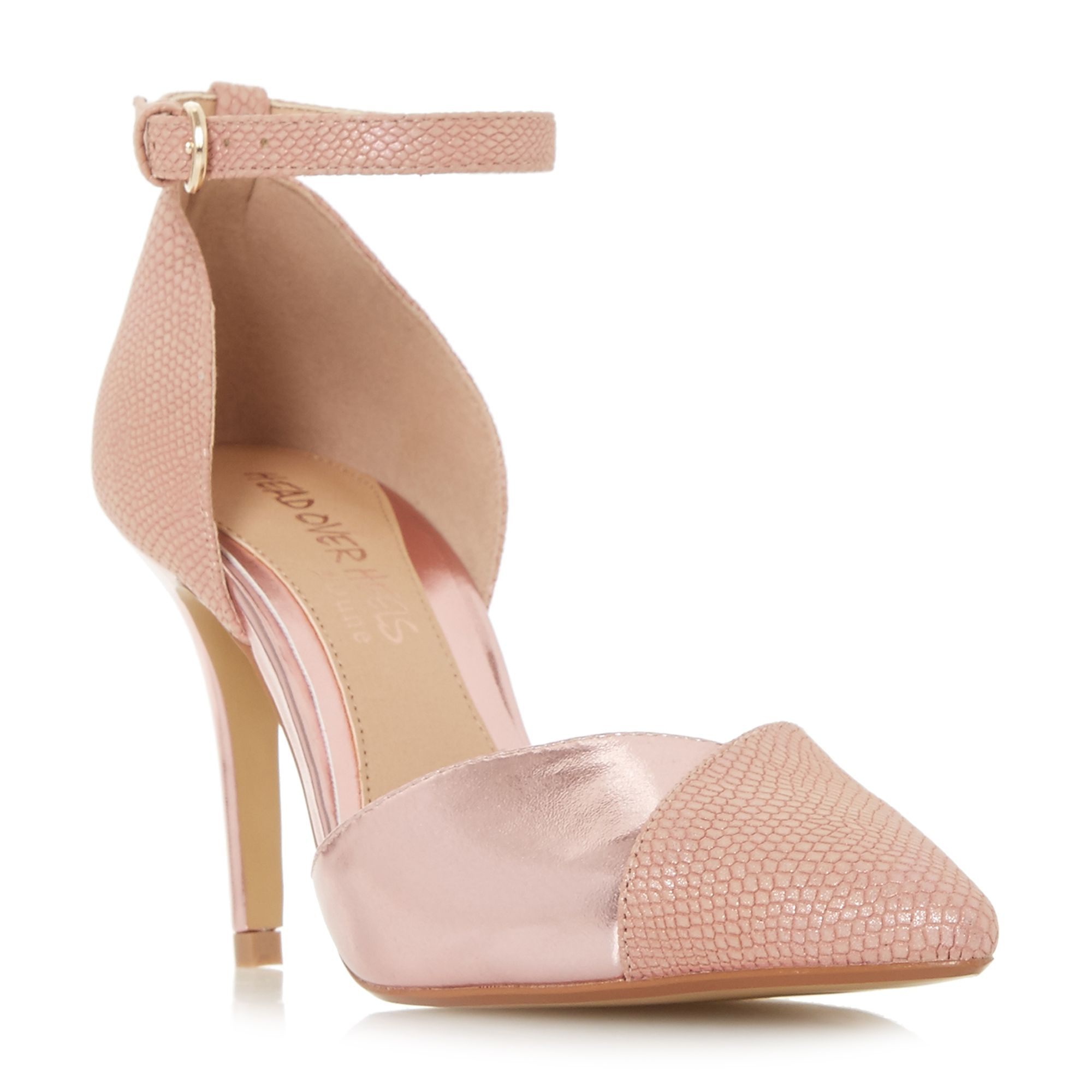 Head Over Heels Cersey Pointed Toe Two Part Court Shoes, Pink