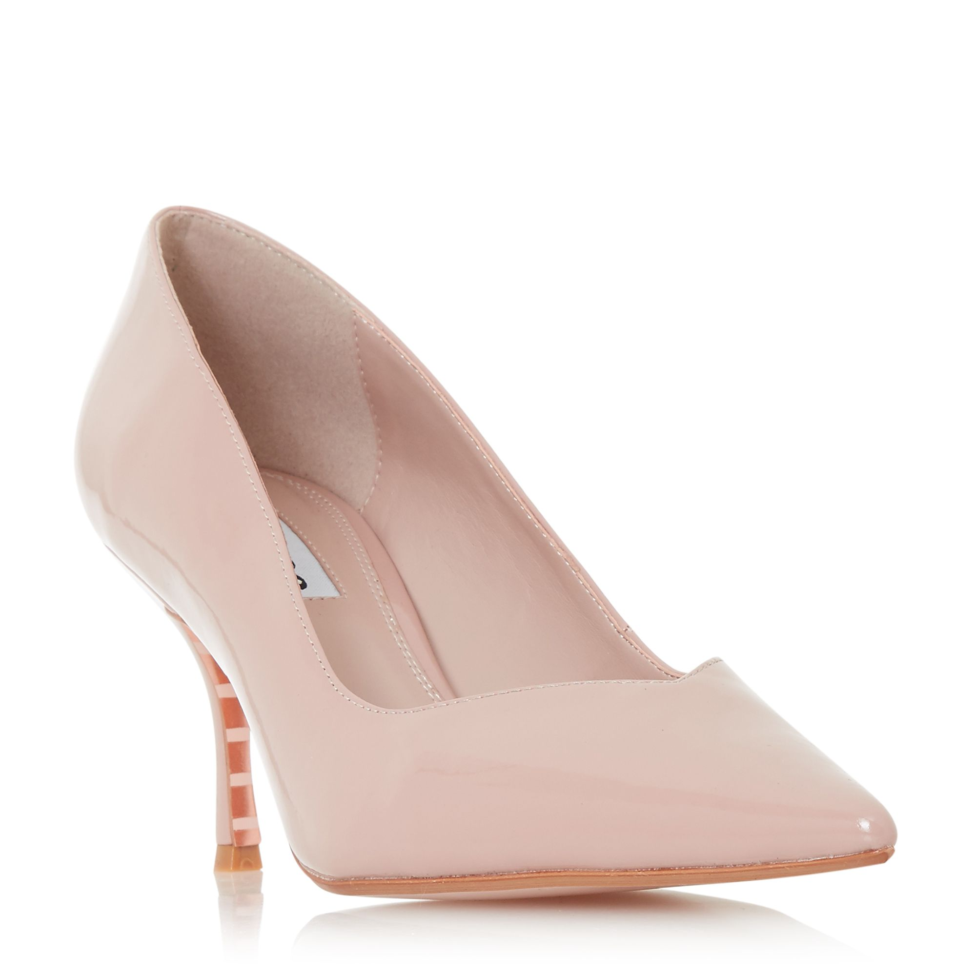 Dune Andersonn V-Cut Studded Court Shoes, Pink