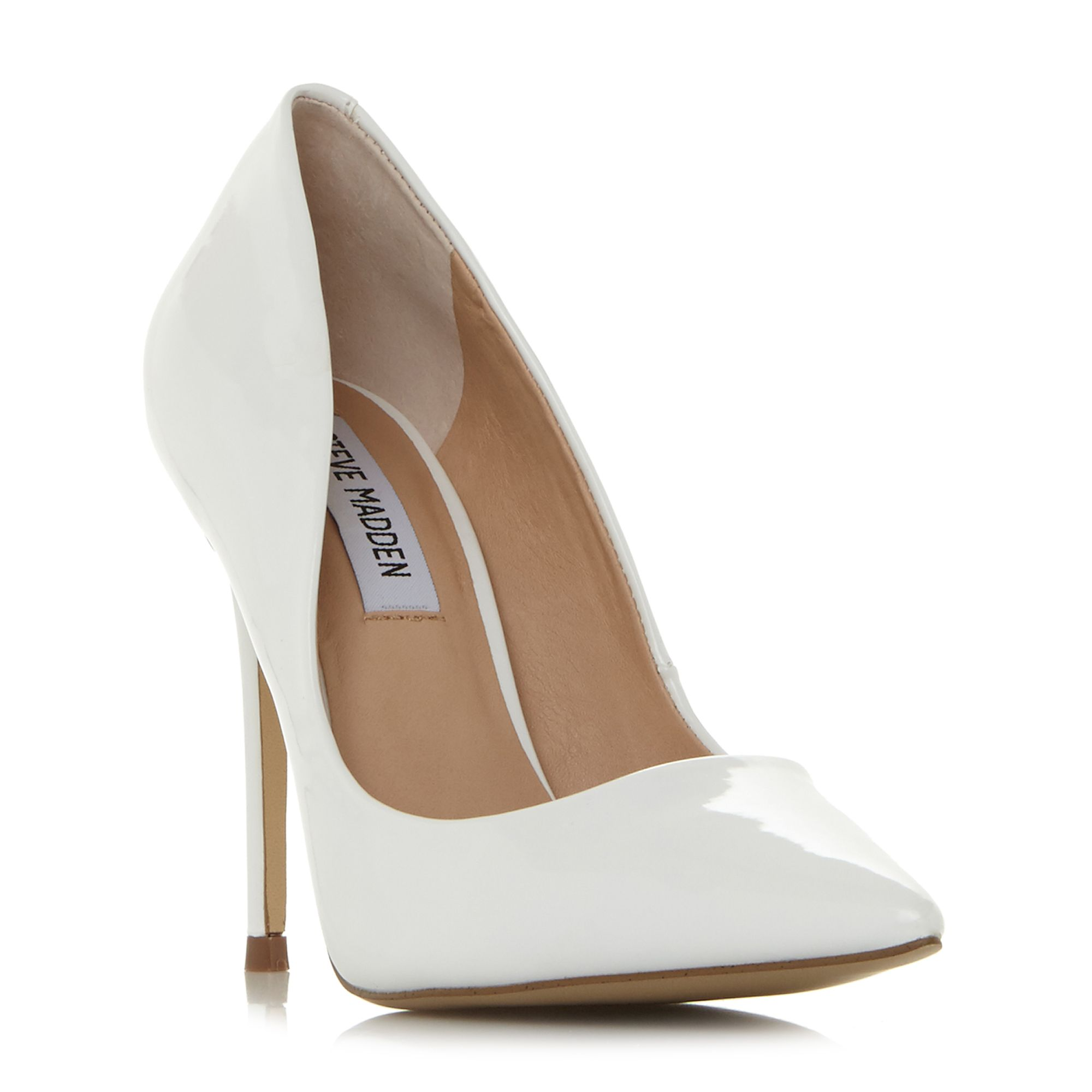 Steve Madden Daisiee Sm Point Toe Court Shoes, White