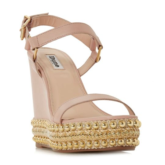 Dune Kibble stud glam wedged shoes