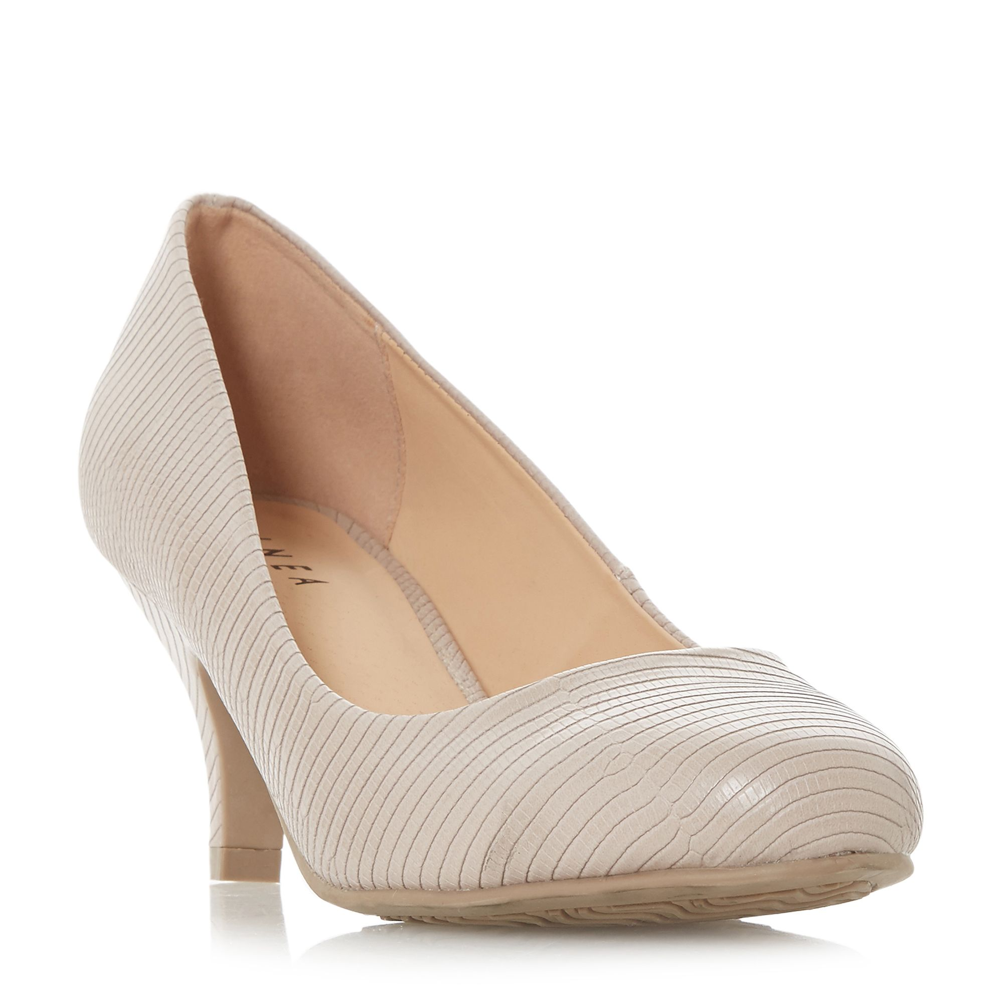 Linea Arabella Almond Toe Court Shoes, Nude