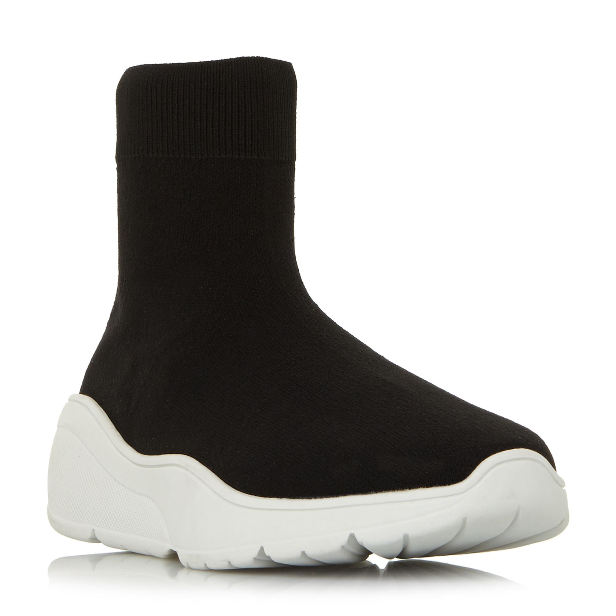 Steve Madden Flex Sm Sock Boot Runners, Black