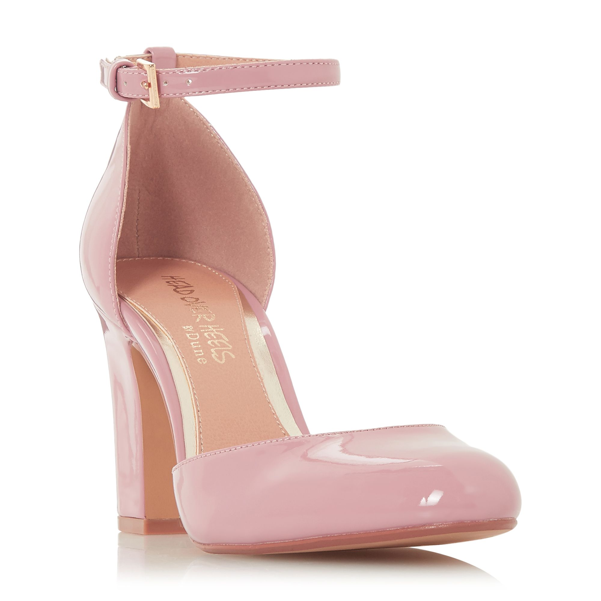 Head Over Heels Calipso Two Part High Heel Court Shoes, Dusty Pink