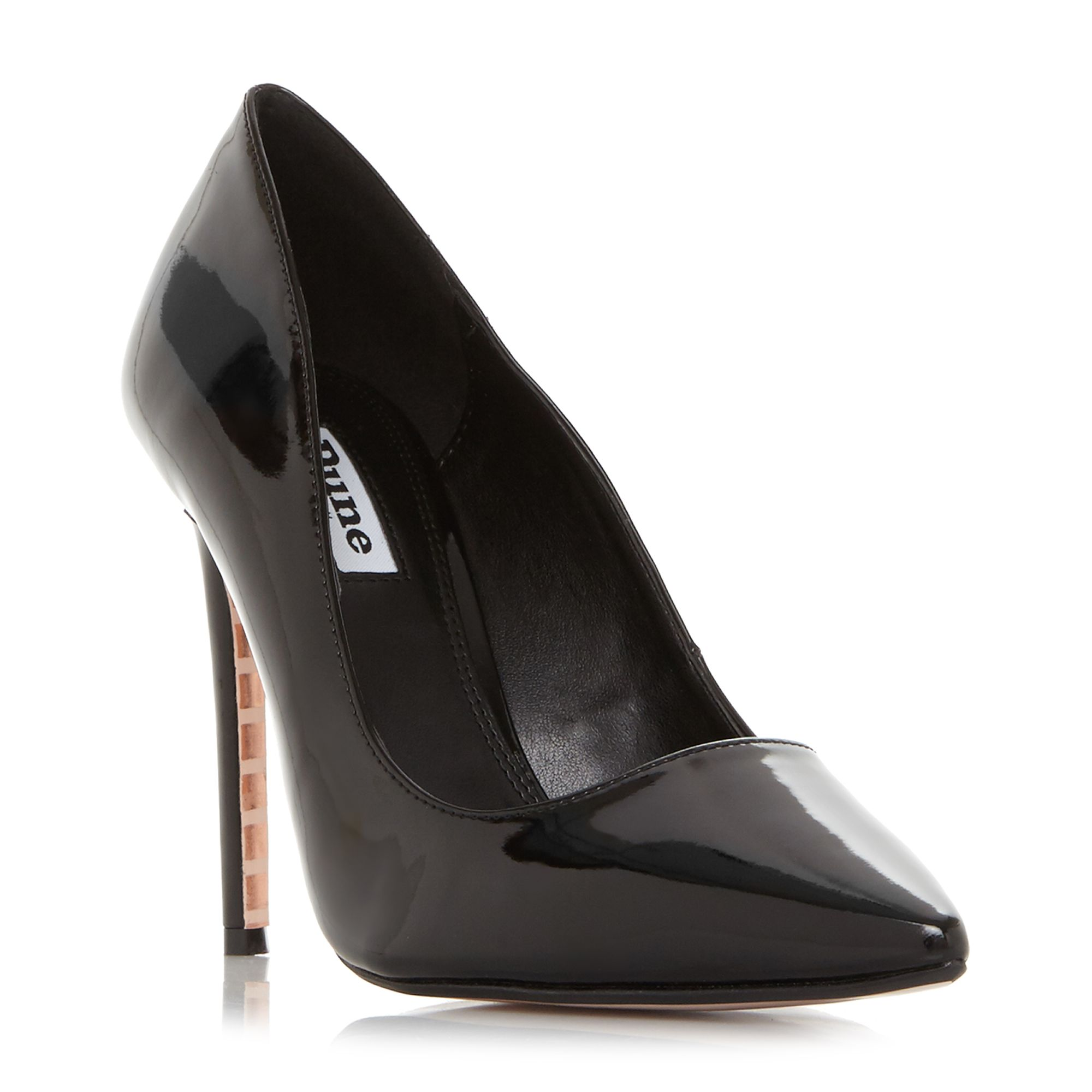 Dune Amalfie Point Toe Stiletto Court Shoes, Nearly Black