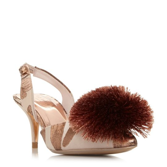 Ted Baker Mikali Sling Back Pompom Shoes