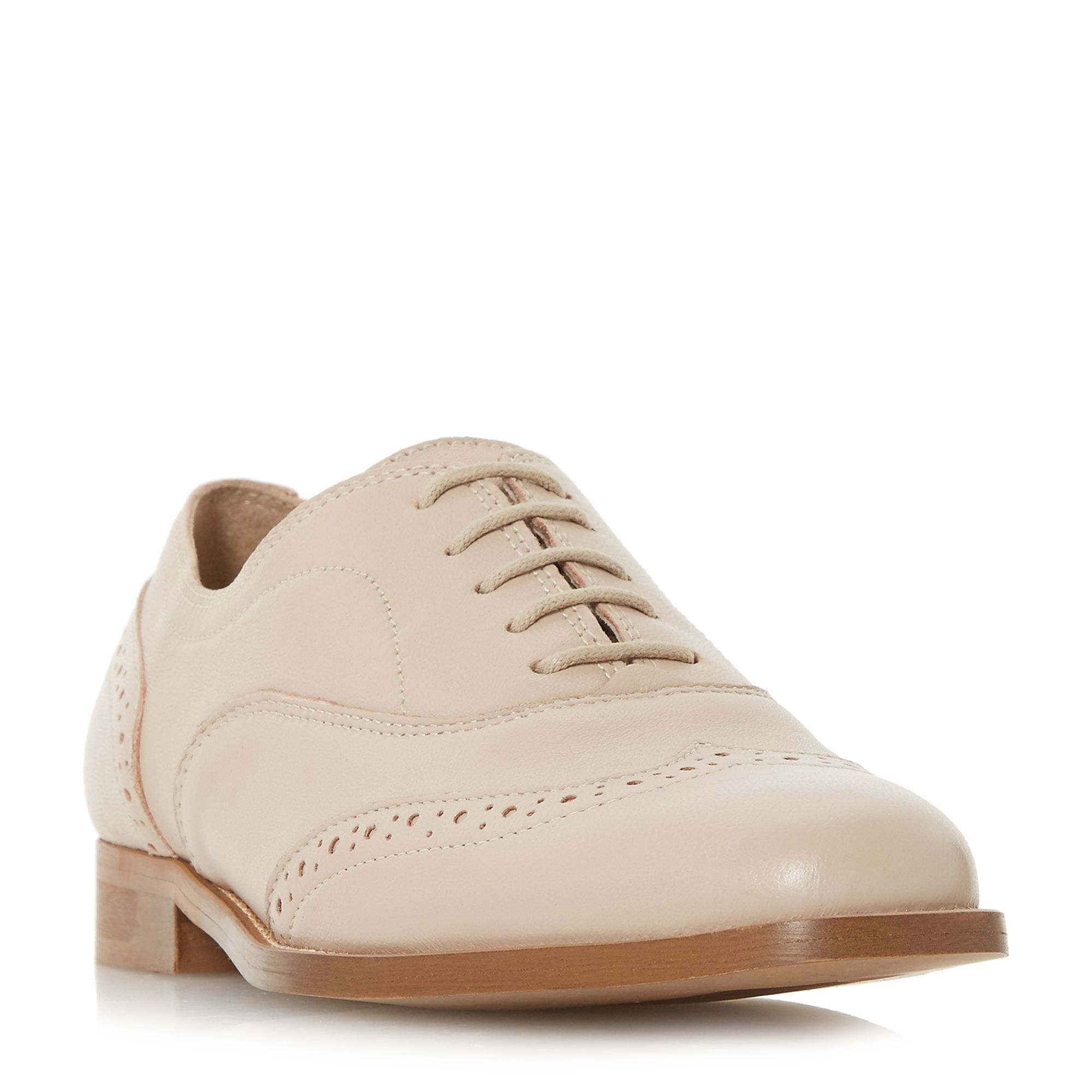 Dune Black Flaine Lace Up Brogue Shoes, Pink