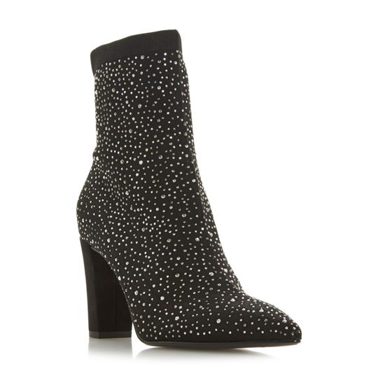 Dune Ozone Pointed Toe Satin Boots