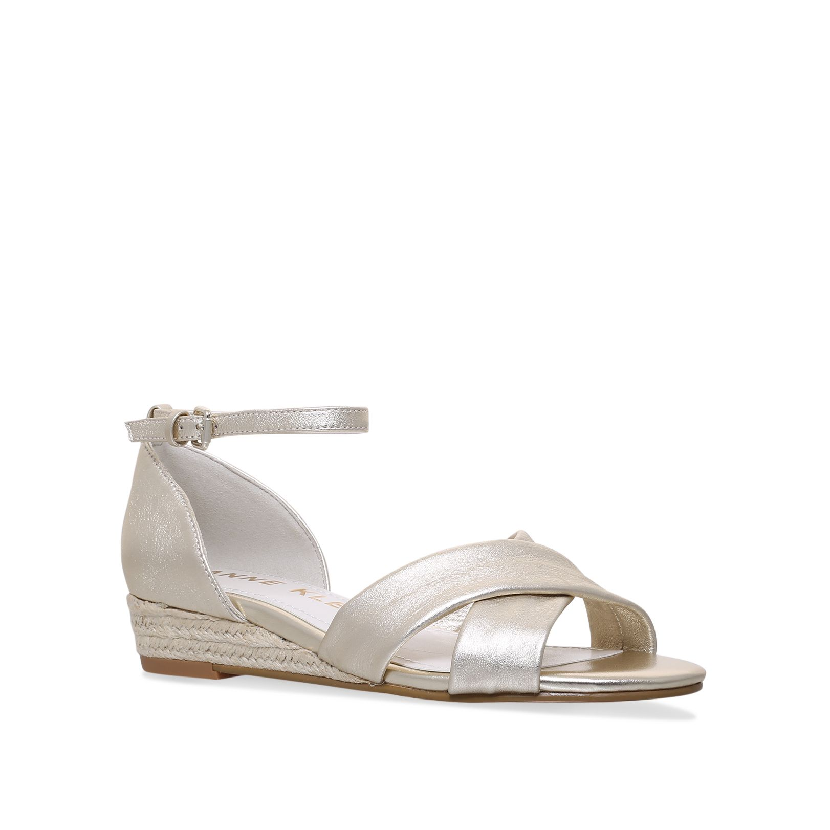 Anne Klein Nanetta Sandals, Gold Silverlic