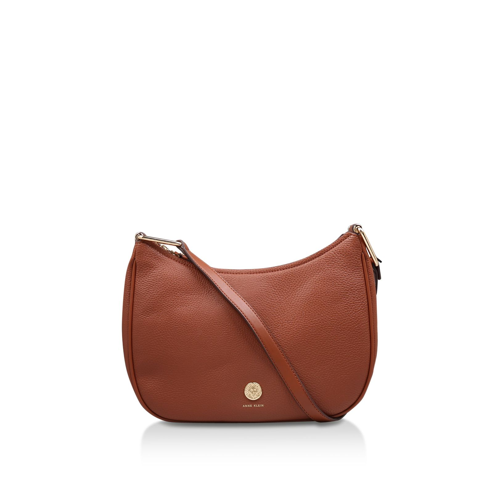 Anne Klein Hinge Crossbody Bag, Brown