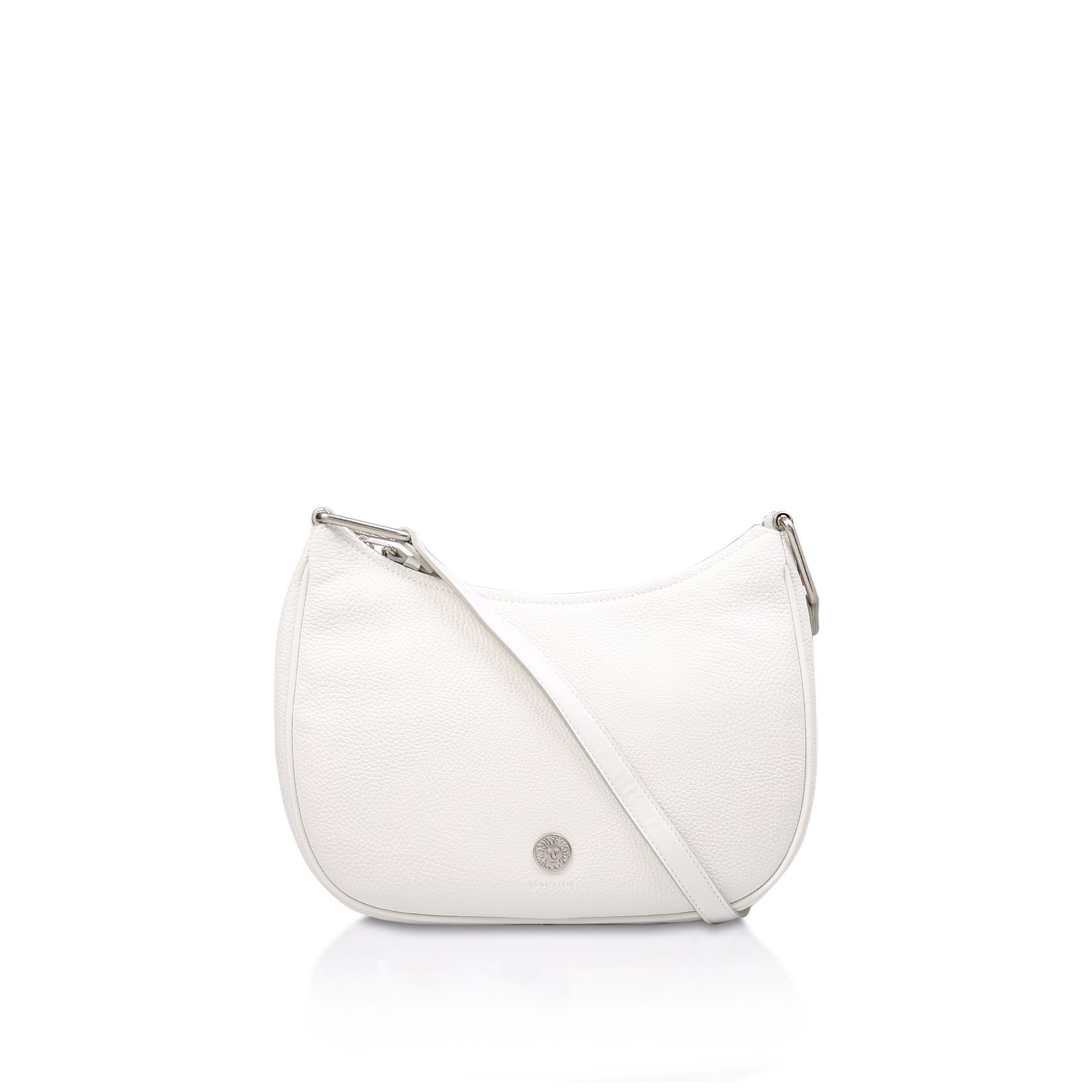 Anne Klein Hinge Crossbody Bag, White