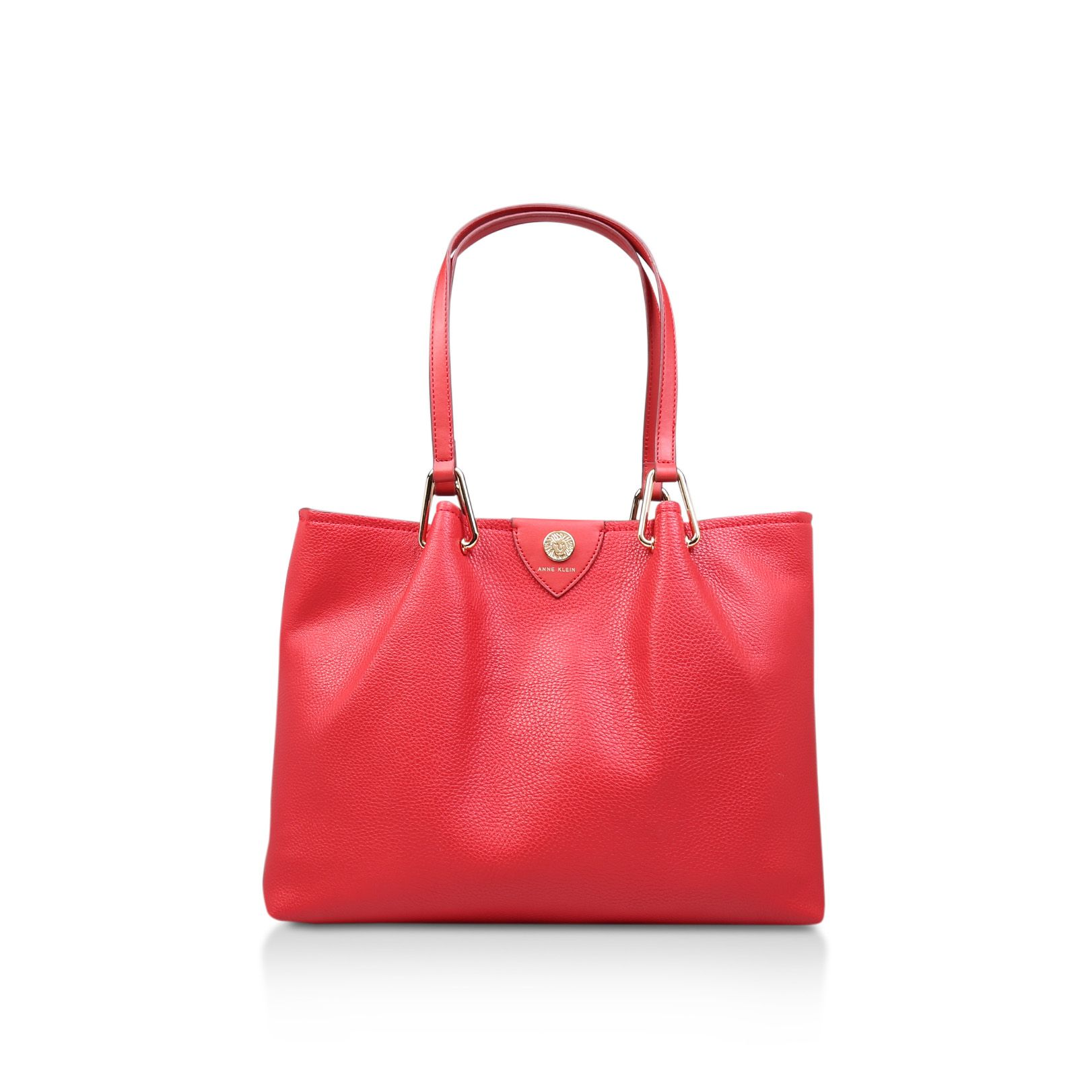 Anne Klein Hinge Soft Tote Bag, Red