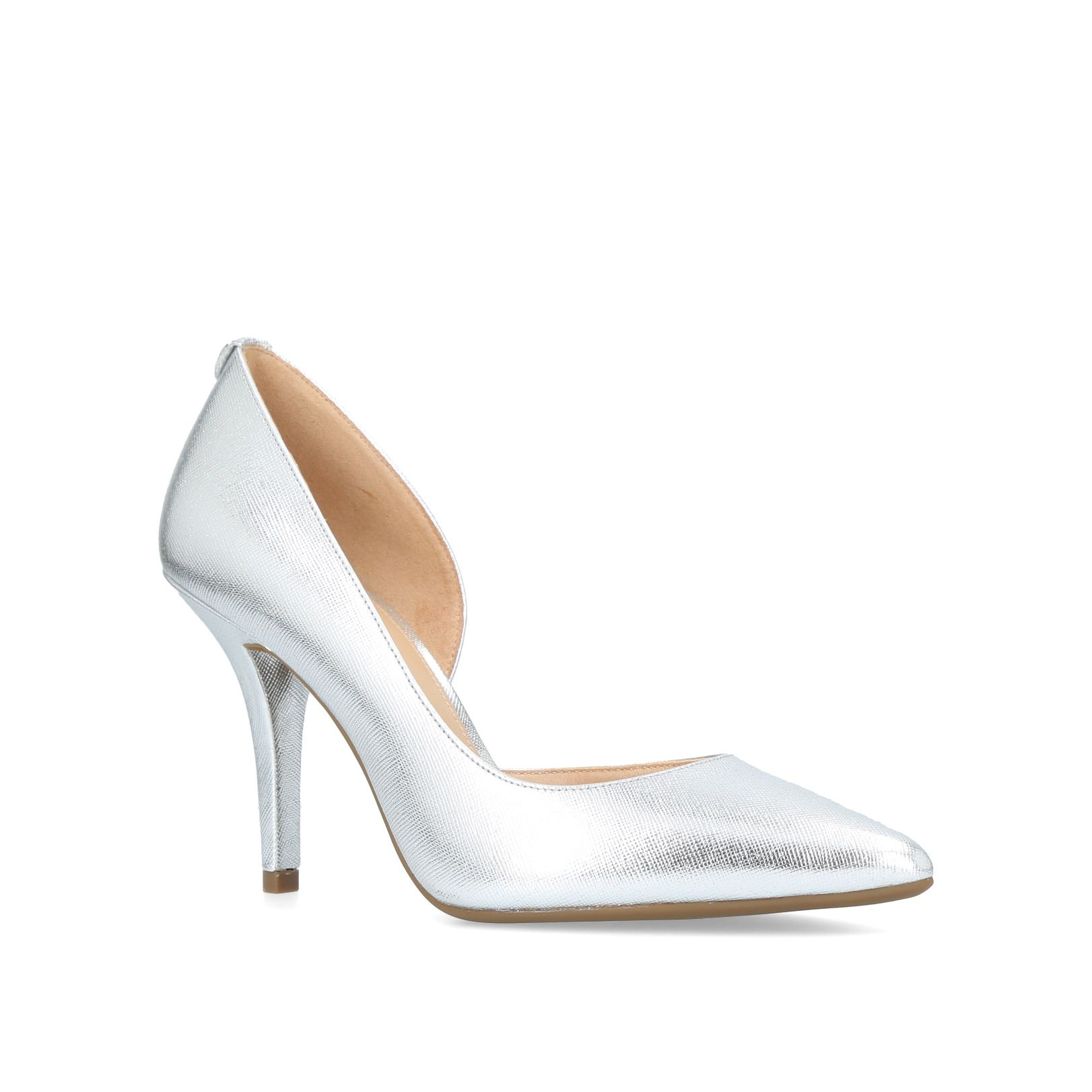 Michael Kors Nathalie Flex High Pump Courts, Silver