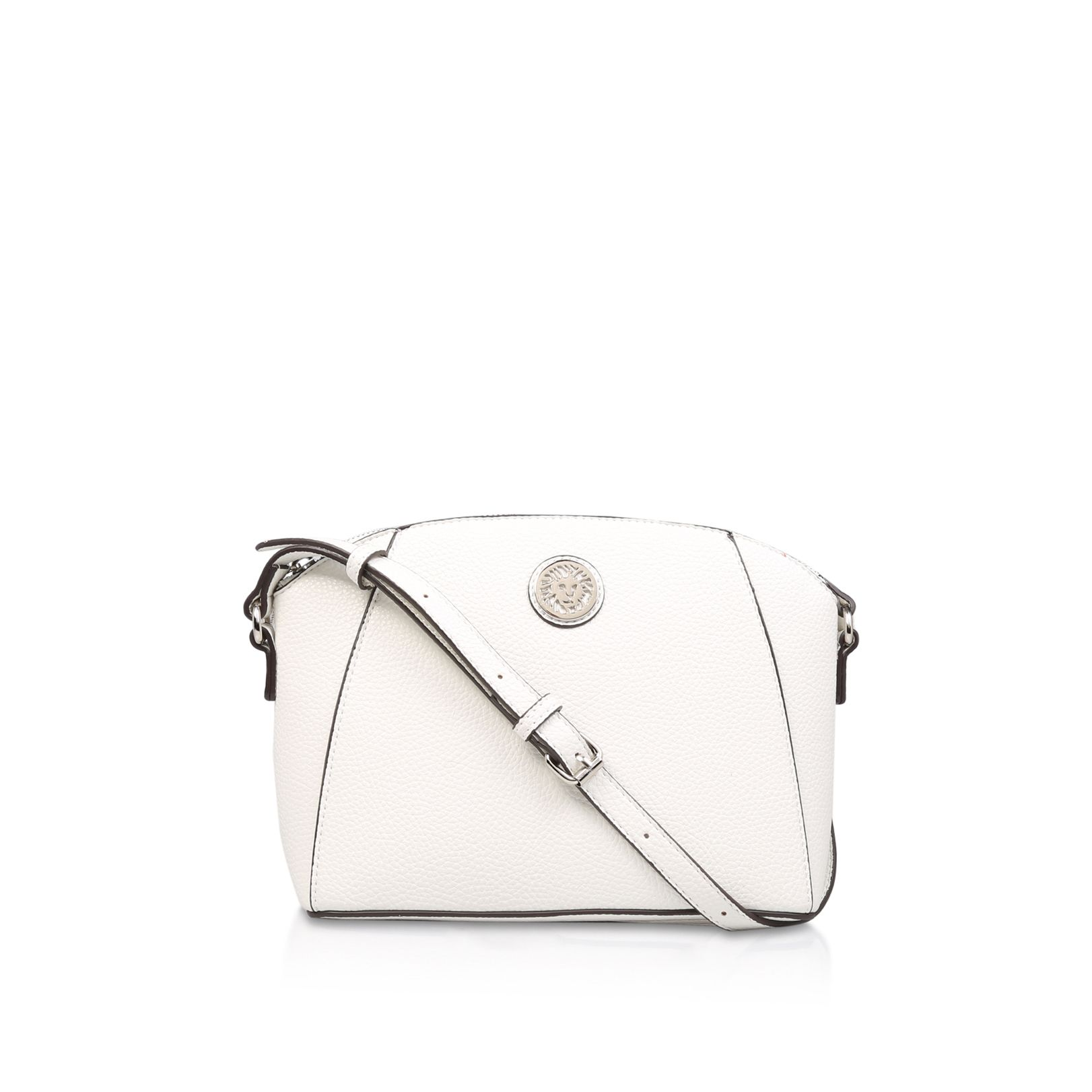 Anne Klein Classic Curves Crossbody Bag, White
