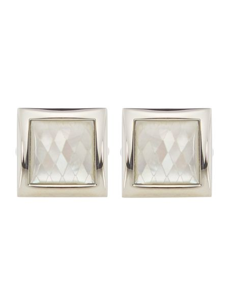 Simon Carter Mother of pearl diamond square cufflink