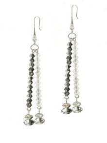1928 Black Diamond & Hematite Earrings
