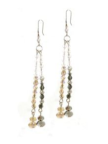 1928 Topaz & Hematite Crystal Earrings