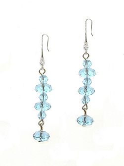 Light Sapphire Crystal Earrings