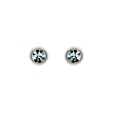 Lilli & Koe Rhodium crystal stud earrings