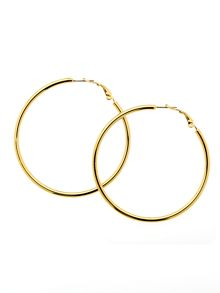 Melissa Odabash Gold medium hoop earrings