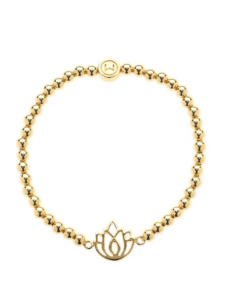 Melissa Odabash Gold ball lotus stretch bracelet