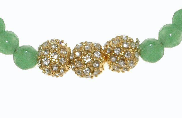 Pavé ball stretch bracelet