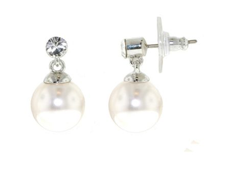 Lilli & Koe Rhodium & crystal pearl earrings
