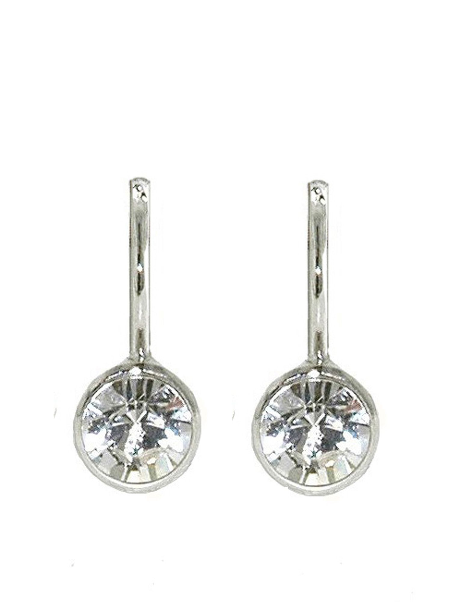 lilli and koe rhodium and crystal earrings