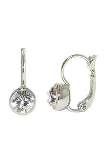 Lilli & Koe Rhodium & crystal earrings