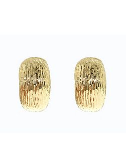 Gold textured clip earrings