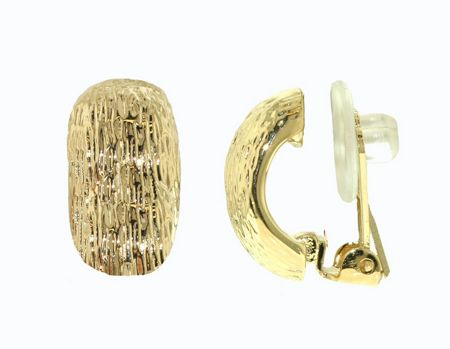 Lilli & Koe Gold textured clip earrings