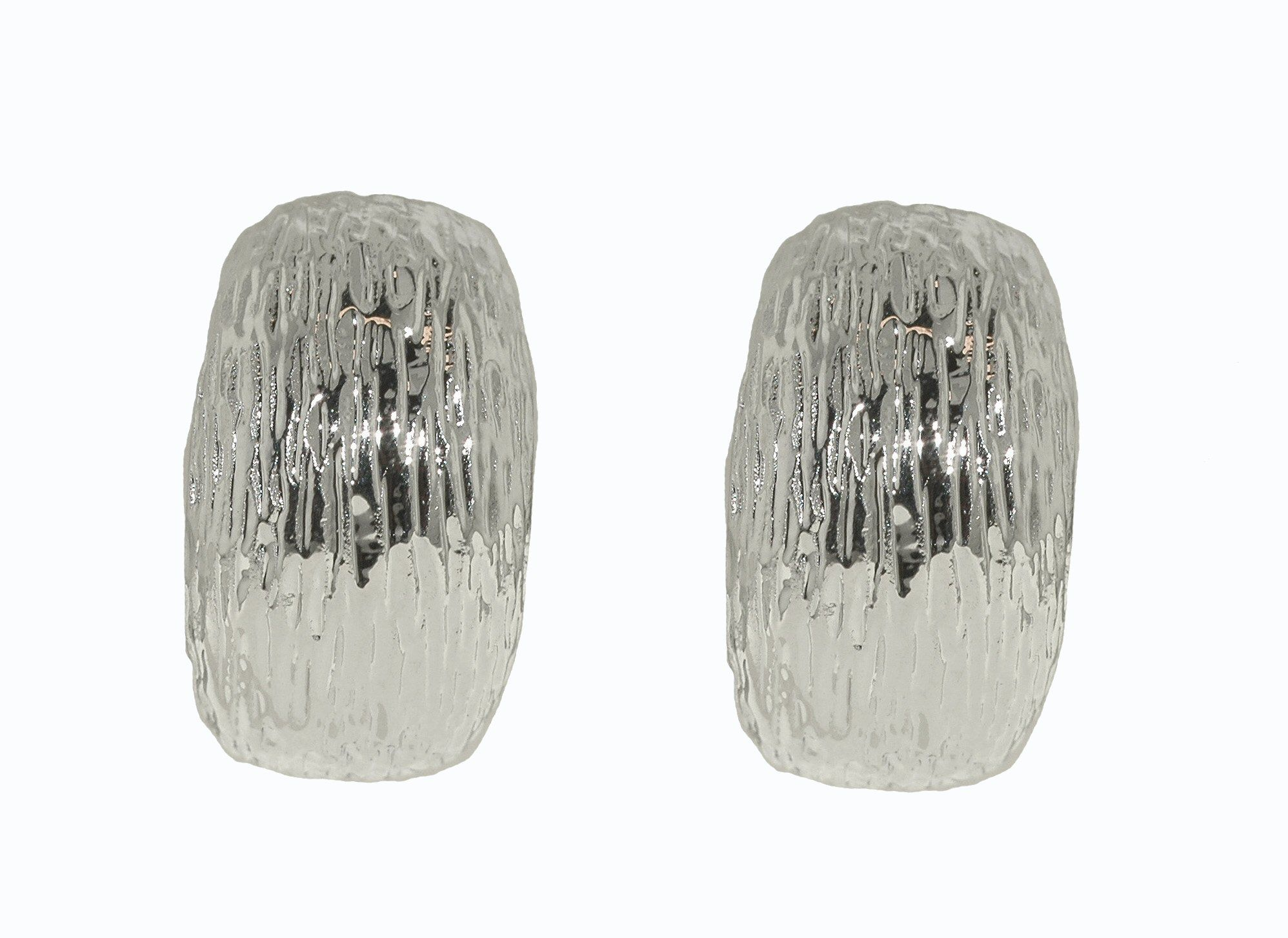 lilli and koe rhodium textured clip earrings