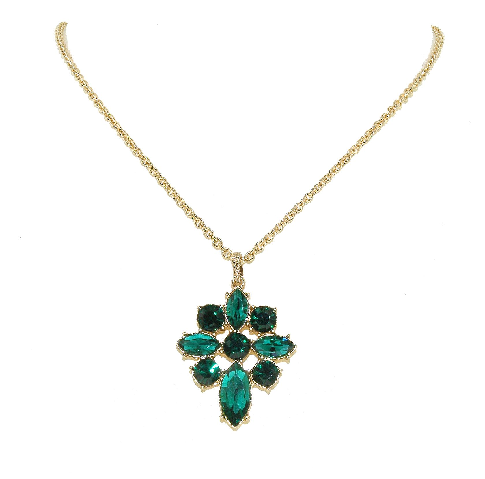 Gold & emerald pendant