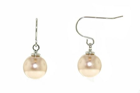 Lilli & Koe Rhodium mink pearl drop earrings