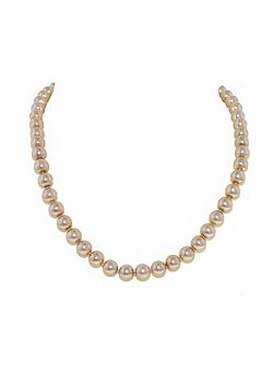 Mink faux pearl knotted necklace