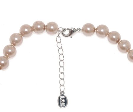 Lilli & Koe Mink faux pearl knotted necklace