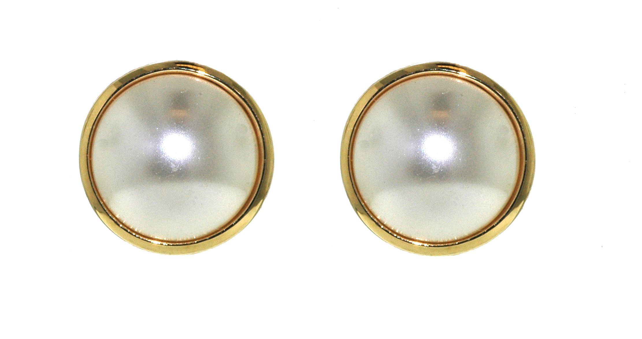 lilli and koe pearl and gold surround clip earrings