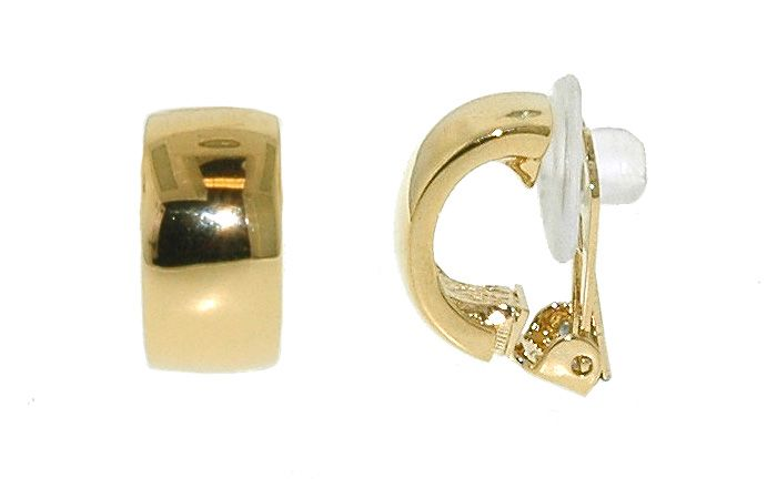 lilli and koe gold half hoop polished clip earrings